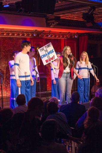 As Laurie Partridge in The Bardy Bunch, special engagement at 54 Below