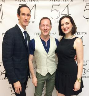 With writing team David Sisco & Tom Gualtieri before their concert at 54 Below