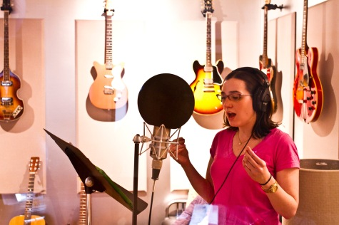 Recording DIVINE MERCY at Third Circle Studios. Photo by Aaron Phillips.