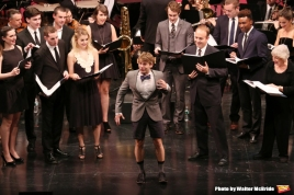 Christiana (far left) with Andrew Keenan-Bolger in The Music Man with the Transport Group
