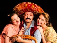 """With MX Soto and Catherine Greenfield in """"Mexican Hayride."""" Photo by Jacob L. Smith/Lumberjack Studios."""