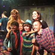 After winning Tune in Time at the York Theatre - with host Emily McNamara, collaborator Joe Kinosian (Murder for Two), and Broadway Baby hosts Grace Matwijec, Eli Tokash, and Nicky Torchia.