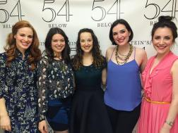 "With ""Pride and Prejudice"" Bennet sisters Teal Wicks (Jane), Margo Seibert (Lizzy), Rita Markova (Mary), Christiana Cole (Kitty), and Jessica Fontana (Lydia)."